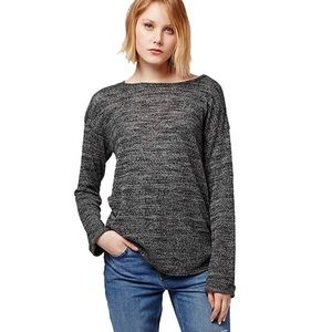 Topshop Space Dye pullover sweater black & gray 2